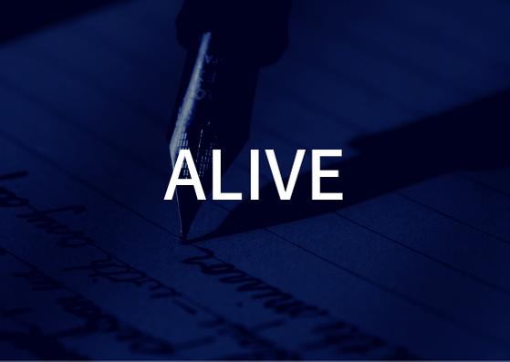 「ALIVE」の歌詞から学ぶ
