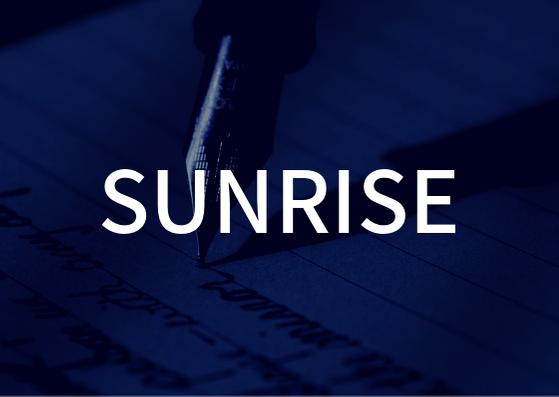 「SUNRISE」の歌詞から学ぶ