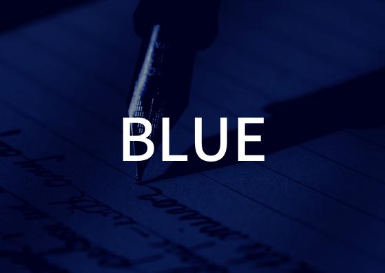 「BLUE」の歌詞から学ぶ