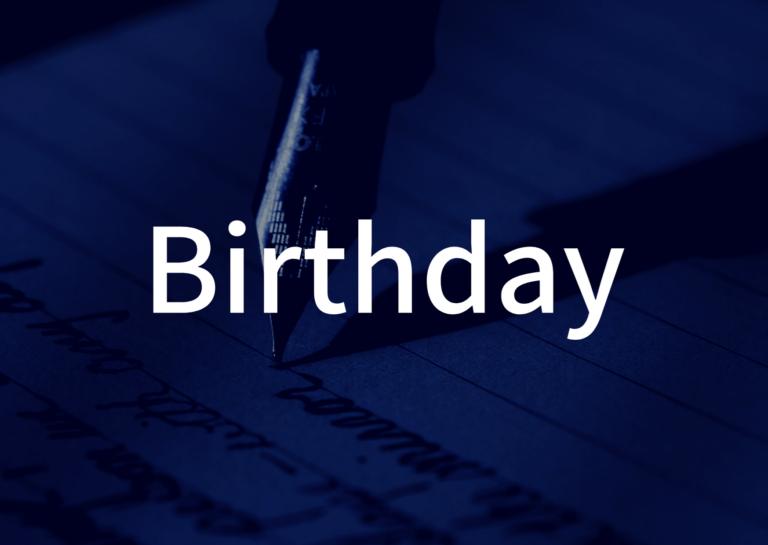 「Birthday」の歌詞から学ぶ